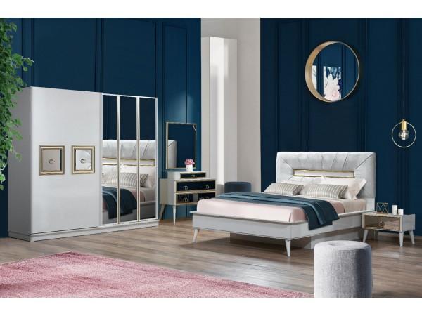 Gold Beyaz Yatak Odası